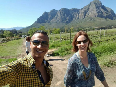 One of the best parts of a visit to Oldenburg Vineyards is the walk up to Rondekop