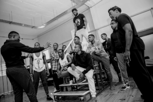 Rehearsal time: The cast of King Kong — The Musical. Picture: DANIEL RUTLAND MANNERS