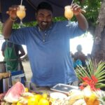 Streetfood vendor in Grand Bay Image: Debbie Hathway