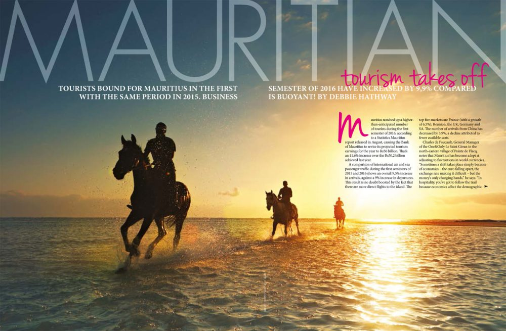 Mauritian tourism takes off